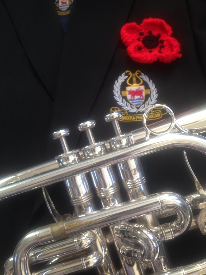 Remembrance Sunday Brass Band Poppy
